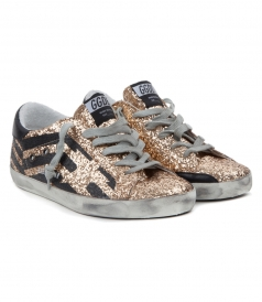 LOW TOP - SUPERSTAR SNEAKERS IN GOLD GLITTER
