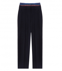 DOULBE WAIST BAND PANT