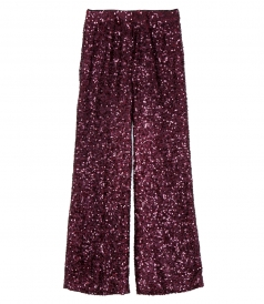 CLOTHES - WIDE LEG SEQUINED PANTS