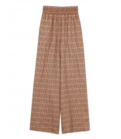 SALES - SOPHIE CHECKED WIDE-LEG PANTS