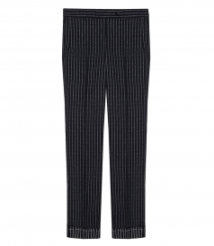 VENICE PINSTRIPED TAILORED TROUSERS
