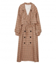 VELA CHECKED TRENCH COAT