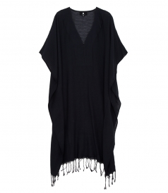 V NECK FRINGED KAFTAN
