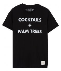 COCKTAILS AND PALM TREES T-SHIRT