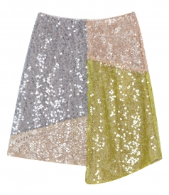 CLOTHES - PATCHWORK SEQUINNED MINI SKIRT