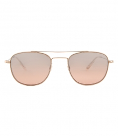 SUNGLASSES - CLUB HOUSE 50 AVIATOR SUNGLASSES FT ROSE GOLD-TONE LENSES