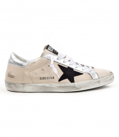 SHOES - SUPERSTAR SNEAKERS IN CREAM FT BLACK STAR PATCH