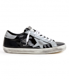 SHOES - SUPERSTAR SNEAKERS IN BLACK SHINY LEATHER