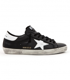 SHOES - SUPERSTAR SNEAKERS IN MATTE BLACK FT WHITE DETAILING
