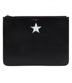 BLURRED STAR MOTIF POUCH
