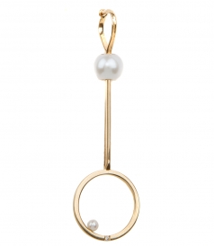 18KT GOLD BUBBLE EARRING