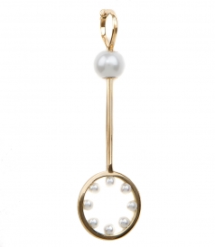 18KT GOLD BUBBLE EARRING FT NATURAL PEARLS