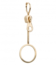 18KT GOLD ZIPPER BUBBLE EARRING