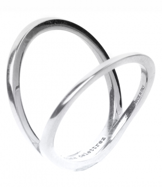 DELFINA DELETTREZ - IN BETWEEN 18KT WHITE GOLD RING