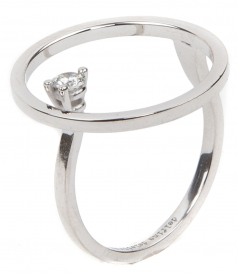 18KT WHITE GOLD BUBBLE RING FT DIAMOND