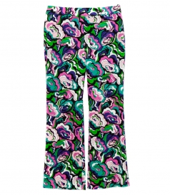 MULTICOLORED FLORAL PHSYCHEDELIC PRINTED TROUSERS