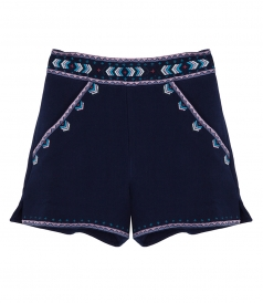 EMBROIDERED TAILORED SHORTS