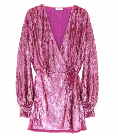 ALL OVER SEQUINED MINI DRESS