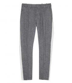 CHECKED FT SIDE STRIPE PANTS