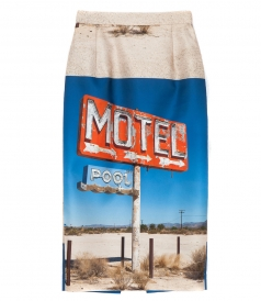 SKIRTS - MOTEL GRAPHIC PRINT PENCIL SKIRT