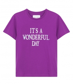 IT'S A WONDERFUL DAY PRINTED T-SHIRT
