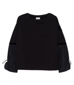 FLARED SLEEVE COTTON SWEATSHIRT