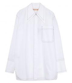 ELONGATED POINTED COLLAR SHIRT