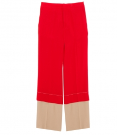 CLOTHES - FLARED LONG LAYERED TROUSERS