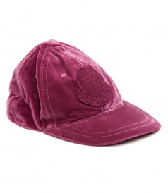 LOGO PATCH VELVET HAT