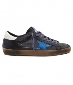 SHOES - SUPESTAR SNEAKERS IN BLACK FT CONTRASTING DETAILS