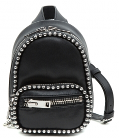 ATTICA SOFT STUDDED MINI BACKPACK STYLE SHOULDER BAG