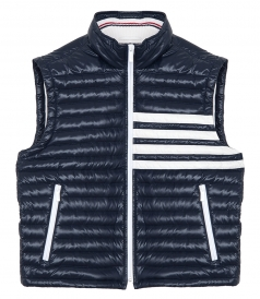 THOM BROWNE NEW YORK - 4 BAR STRIPE DOWNFILL VEST