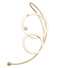 18KT DOUBLE BUBBLE EARRING