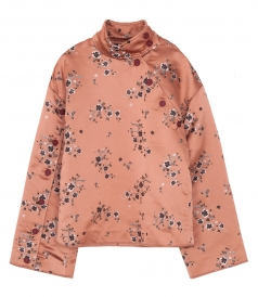 LONG SLEEVES FLORAL PRINT TOP WITH BUTTONS