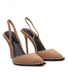 RINA CLAY SUEDE PUMPS