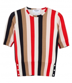 CLOTHES - STRIPED HALF SLEEVE TOP