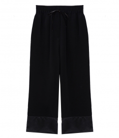 PANTS - CROPPED WIDE LEG PANTS