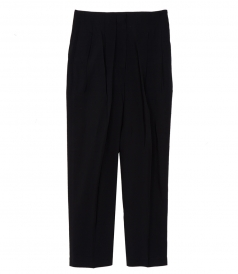 PANTS - PLEATED CROPPED TROUSERS