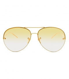 42071e69e093 SUNGLASSES - LINDA FARROW 574 C9 AVIATOR SUNGLASSES