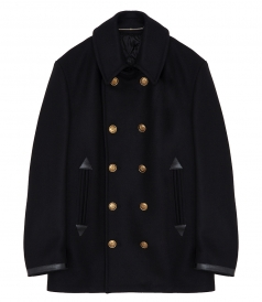 CLASSIC PEACOAT FT 4G ENGRAVED GOLD-TONE BUTTONS