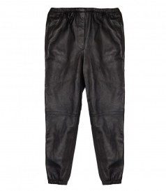 PANTS - LEATHER TRACK PANTS