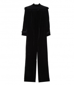 JUMPSUITS - VELVET HIGH-NECK TRACKSUIT