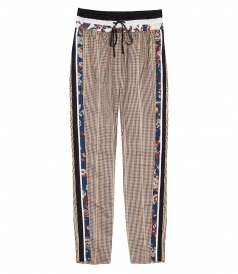PANTS - CHECK AND FLORAL PATTERN PANTS