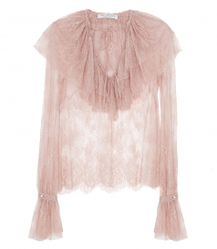 CLOTHES - RUFFLE FLOUNCE BLOUSE IN LIGHT PINK