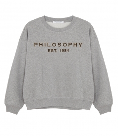 DROP SHOULDER LOGO SWEATSHIRT