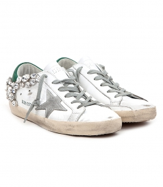 SUPERSTAR SNEAKERS FT STONE APPLIQUES & CONTRASTING HEEL COUNTER