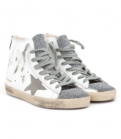 FRANCY SNEAKERS IN DISTRESSED EFECTS FT GLITTER TONGUE