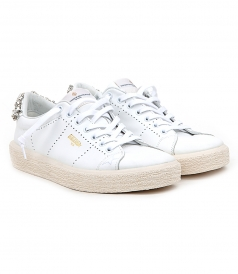 GOLDEN GOOSE  - TENNIS SNEAKERS FT FAUX-CRYSTAL EMBELLISHED HEEL COUNTER