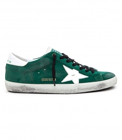 SHOES - SUPESTAR SNEAKERS IN GREEN SUEDE