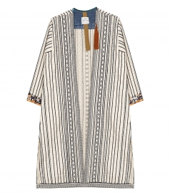 ETHNIC OPEN FRONT COAT